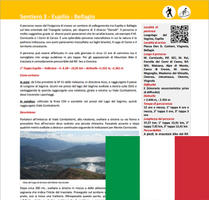 Descrizione Sentiero da Eupilio a Bellagio