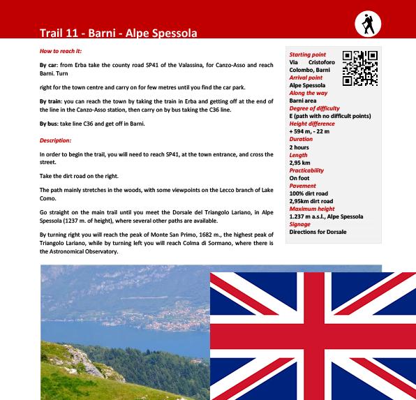Sentiero da Barni ad Alpe Spessola ENG