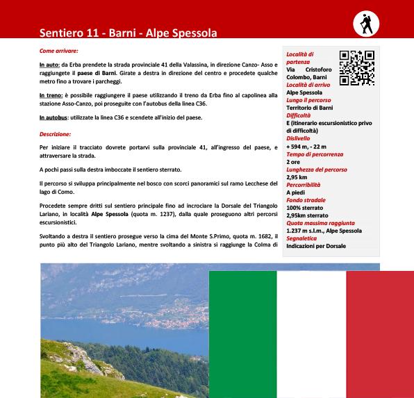 Sentiero da Barni ad Alpe Spessola ITA
