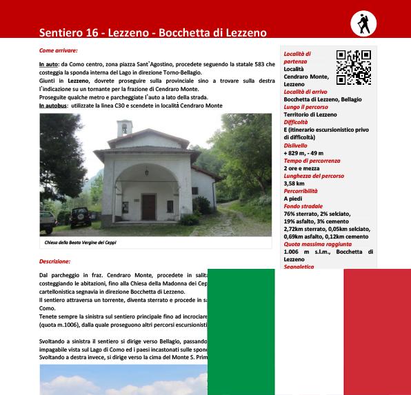 Sentiero da Lezzeno a Bocchetta di Lezzeno ITA