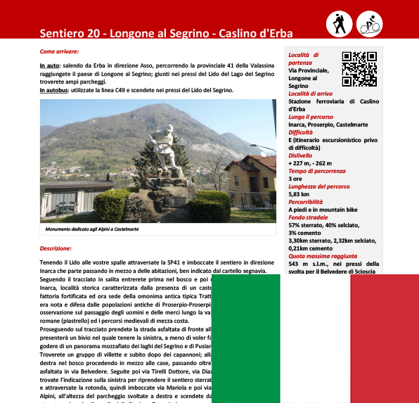 Sentiero da Longone a Caslino ITA