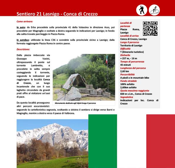 Sentiero da Lasnigo a Conca di Crezzo ITA