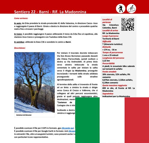 Sentiero da Barni al Rifugio La Madonnina ITA