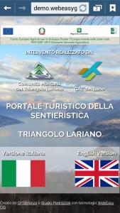 WebApp della Sentieristica Triangolo Lariano - Home