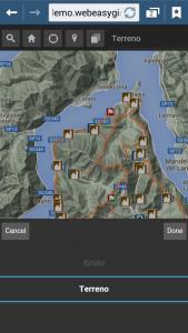 WebApp della Sentieristica Triangolo Lariano - Cambio cartografia