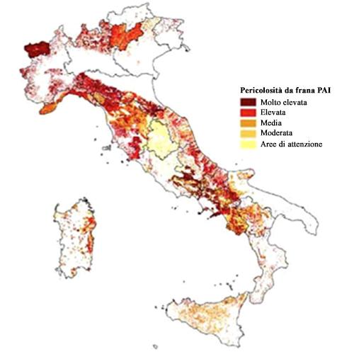 Dissesto idrogeologico - Frane PAI in Italia