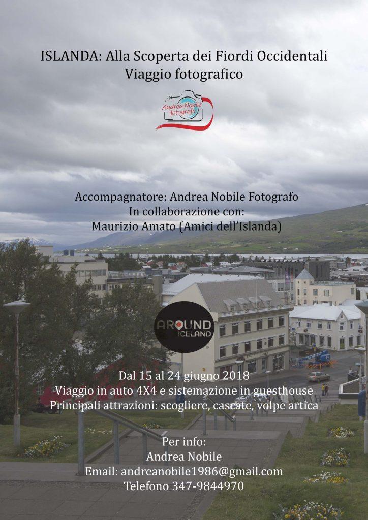 Locandina viaggio fiordi Islanda
