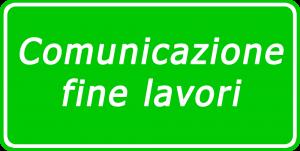 Comunicazione fine lavori Moduli edilizi Lombardia