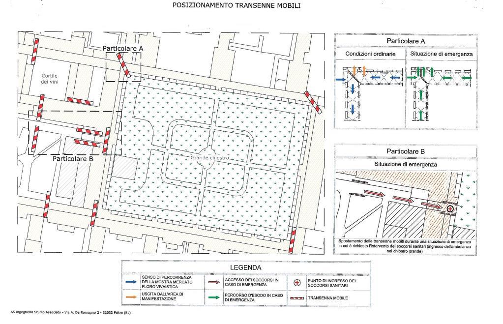 Delimitazione aree emergenza Gestione Grandi Eventi