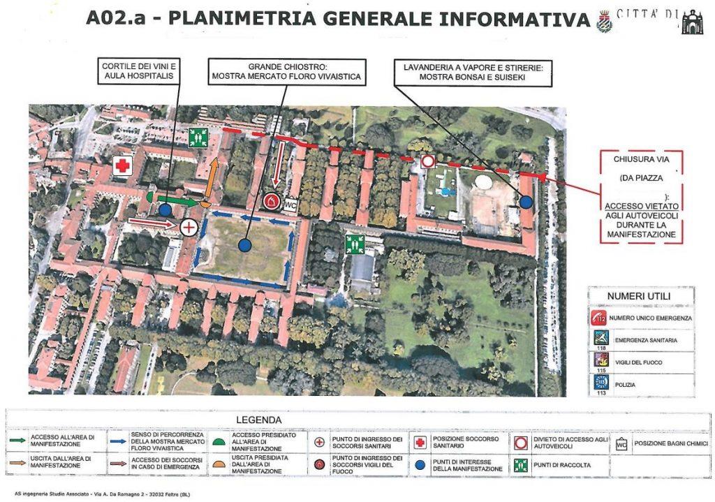 Planimetria informativa emergenza gestione grandi eventi