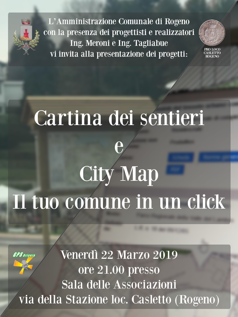 locandina cartina city map Rogeno