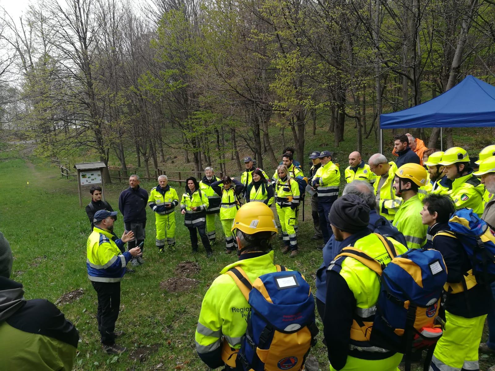 briefing esercitazione protezione civile ricerca e soccorso dispersi